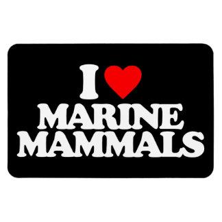I LOVE MARINE MAMMALS RECTANGULAR MAGNETS