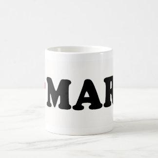 I LOVE MARK CLASSIC WHITE COFFEE MUG