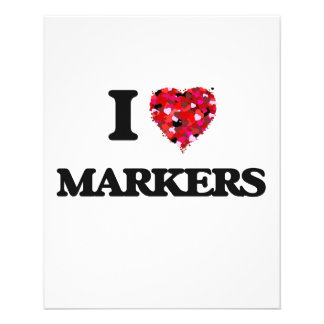 I Love Markers 11.5 Cm X 14 Cm Flyer