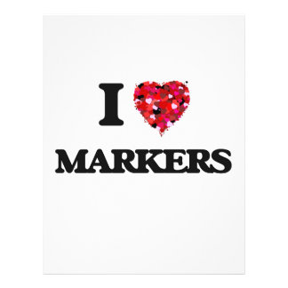 I Love Markers 21.5 Cm X 28 Cm Flyer