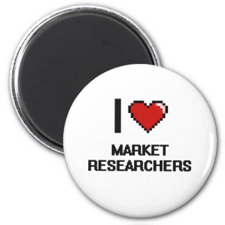 I love Market Researchers 6 Cm Round Magnet