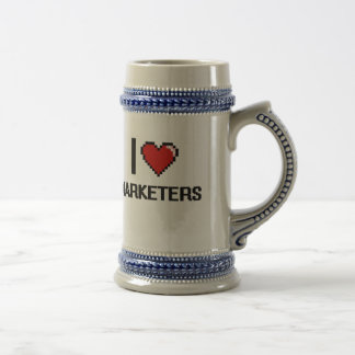 I love Marketers Beer Stein