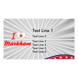 I Love Markham, Illinois Pack Of Standard Business Cards