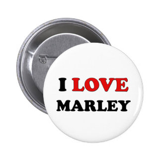 I Love Marley Pinback Buttons