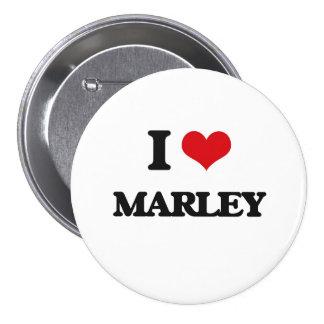 I Love Marley 3 Inch Round Button