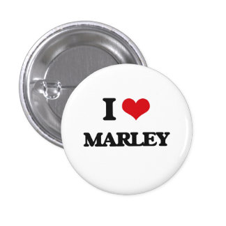 I Love Marley 1 Inch Round Button