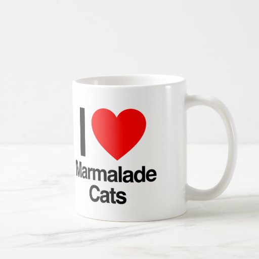 i love marmalade cats coffee mug