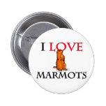 I Love Marmots Button