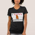 I Love Marmots Tee Shirt