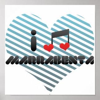 I Love Marrabenta Print