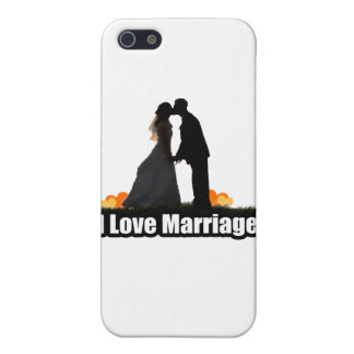 I Love Marriage Kiss the Bride Cover For iPhone 5