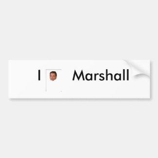 I Love Marshall Bumper Sticker