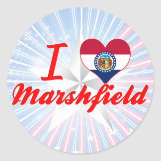 I Love Marshfield Missouri Round Sticker