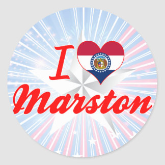 I Love Marston, Missouri Sticker