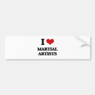 I love Martial Artists Bumper Sticker