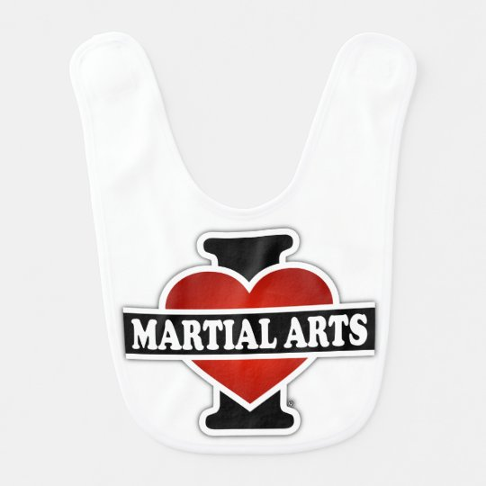 I Love Martial Arts Bib