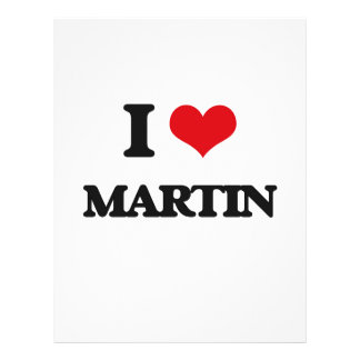 I Love Martin 21.5 Cm X 28 Cm Flyer