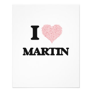 I Love Martin (Heart Made from Love words) 11.5 Cm X 14 Cm Flyer