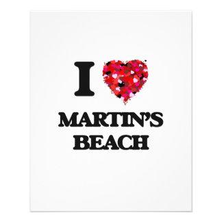 I love Martin'S Beach California 11.5 Cm X 14 Cm Flyer