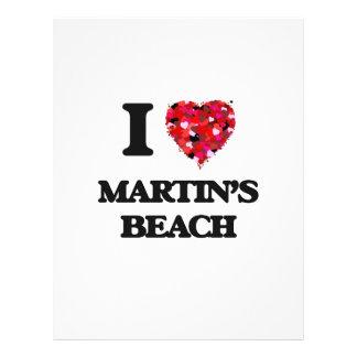 I love Martin'S Beach California 21.5 Cm X 28 Cm Flyer