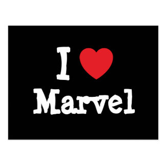I love Marvel heart T-Shirt Postcard