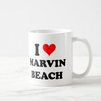 I Love Marvin Beach Connecticut Basic White Mug