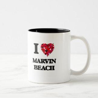 I love Marvin Beach Connecticut Two-Tone Mug