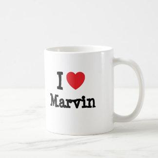 I love Marvin heart custom personalized Basic White Mug