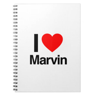 i love marvin note books