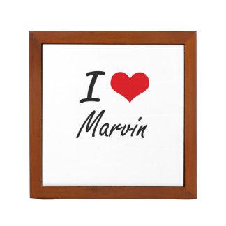 I Love Marvin Pencil Holder
