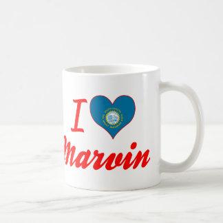 I Love Marvin, South Dakota Basic White Mug