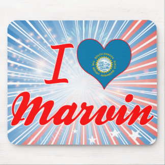 I Love Marvin South Dakota Mousepads