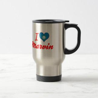 I Love Marvin, South Dakota 15 Oz Stainless Steel Travel Mug