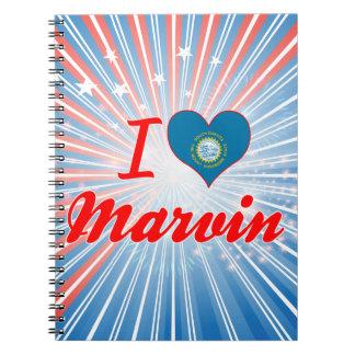 I Love Marvin, South Dakota Spiral Notebook