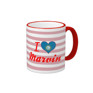 I Love Marvin, South Dakota Ringer Mug