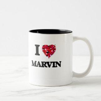 I Love Marvin Two-Tone Mug