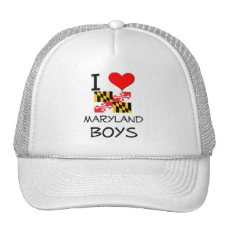 I Love Maryland Boys Mesh Hats