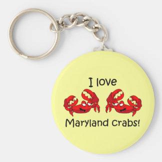 I love maryland crabs! key ring