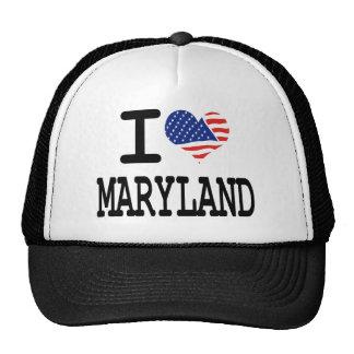 I love Maryland Trucker Hats
