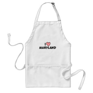 I Love Maryland Standard Apron