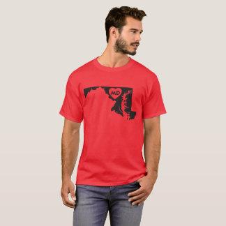 I Love Maryland State Men's Basic Dark T-Shirt