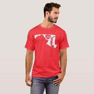 I Love Maryland State Men's Dark T-Shirt