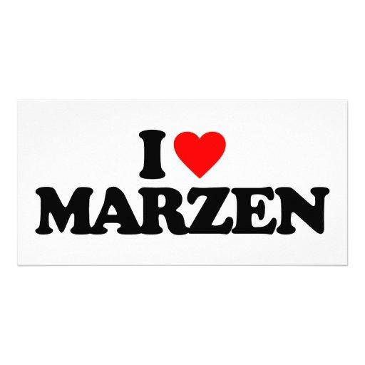 I LOVE MARZEN PHOTO CARD TEMPLATE