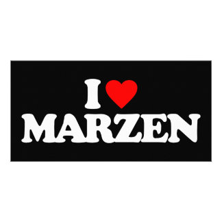 I LOVE MARZEN PHOTO GREETING CARD