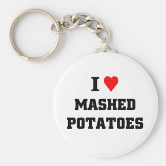 I love Mashed Potatoes Basic Round Button Key Ring