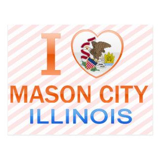 I Love Mason City, IL Postcard