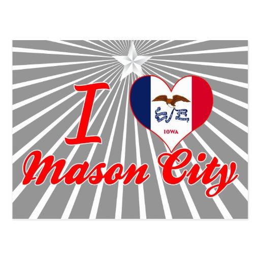 I Love Mason+City, Iowa Post Card