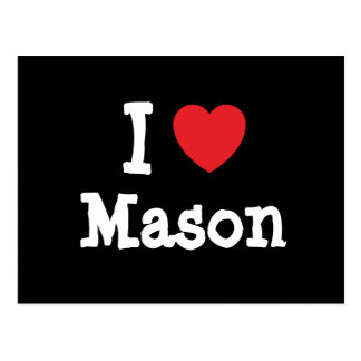 I love Mason heart custom personalized Post Card