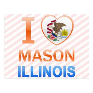 I Love Mason IL Postcard