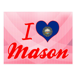 I Love Mason New Hampshire Postcard